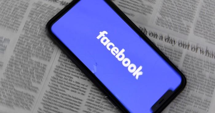 Imagen de la aplicación Facebook en un teléfono inteligente.
