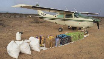 Avioneta asegurada con droga en Baja California
