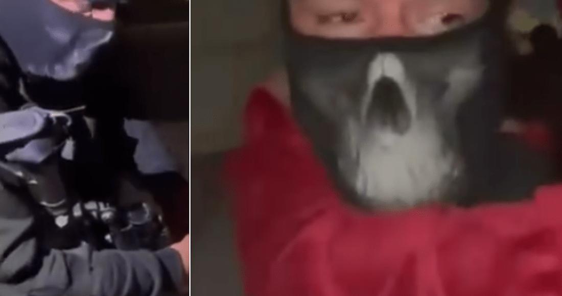 captura de pantalla 2021 02 09 a las 07 40 09 - VIDEO: Conductor de una combi arroja a una mujer en calles de Edomex; la habría asaltado y secuestrado