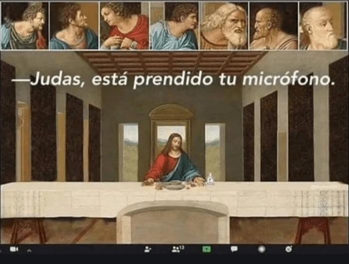 Meme sobre el uso de zoom.