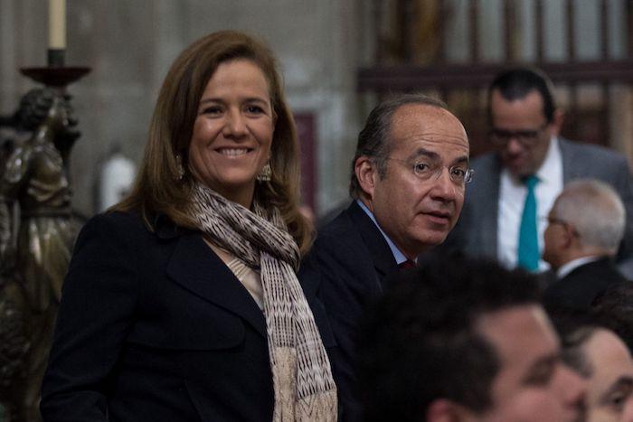 La expareja presidencial, Margarita Zavala y Felipe Calderón.