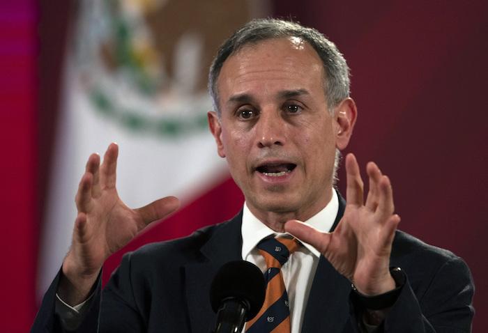 En esta foto de archivo del 13 de julio de 2020, el Subsecretario de Salud de México, Hugo López-Gatell, habla durante una conferencia de prensa en el Palacio Nacional de la Ciudad de México.