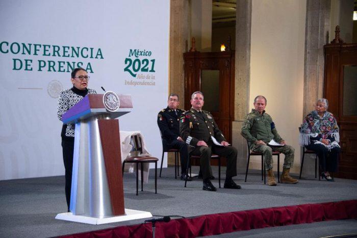 """La Secretaria aseguró que """"estas cifras alientan porque son fruto del trabajo"""" del Gobierno de México."""