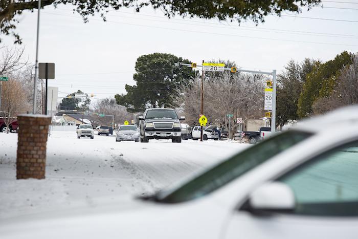 La escena tras la tormenta invernal en Odessa, Texas el 16 de febrero del 2021.