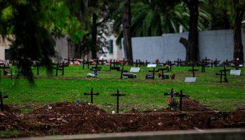 Zona 10 del cementerio de la Chacarita