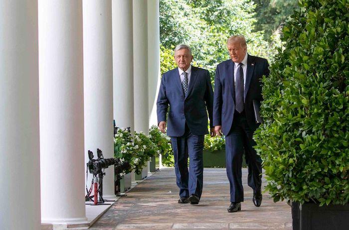 En julio de 2020, Andrés Manuel López Obrador, Presidente de México, y Donald Trump, entonces Presidente de Estados Unidos, se reunieron en la Casa Blanca, en donde ofrecieron un mensaje y firmaron una carta de intención.
