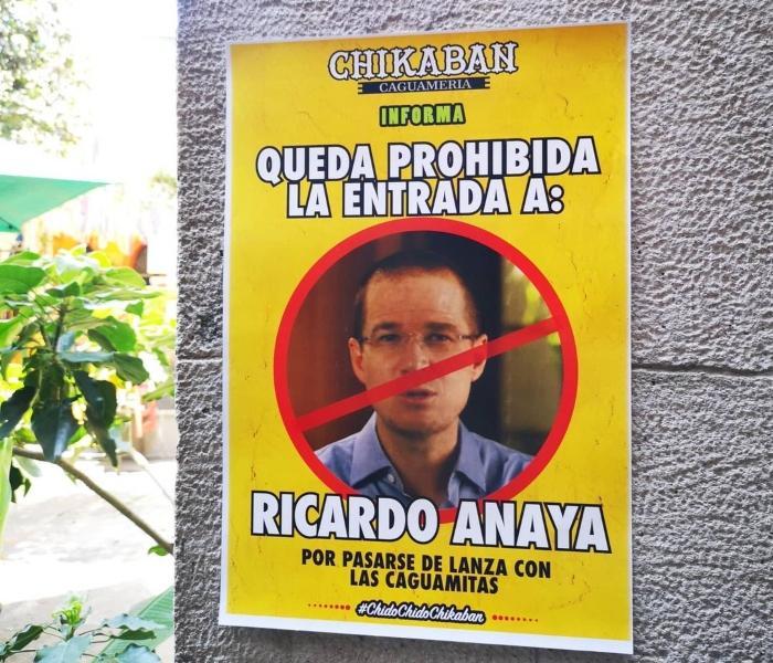 """anaya 3 - """"Por pasarse de lanza con las caguamas"""". Bar de Veracruz prohíbe la entrada a Ricardo Anaya"""