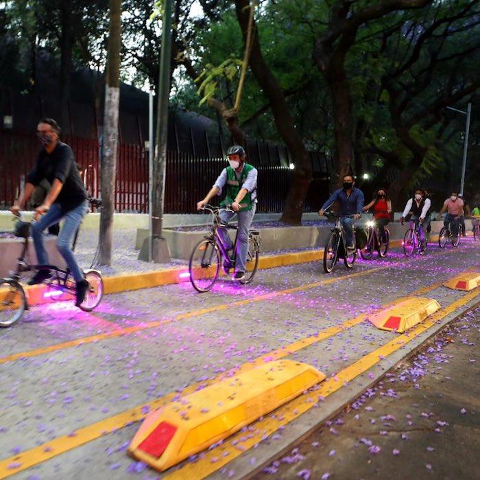 exieclbwuais3kf - FOTOS: Ciclovía luminosa es inaugurada en la Alcaldía Miguel Hidalgo de la Ciudad de México