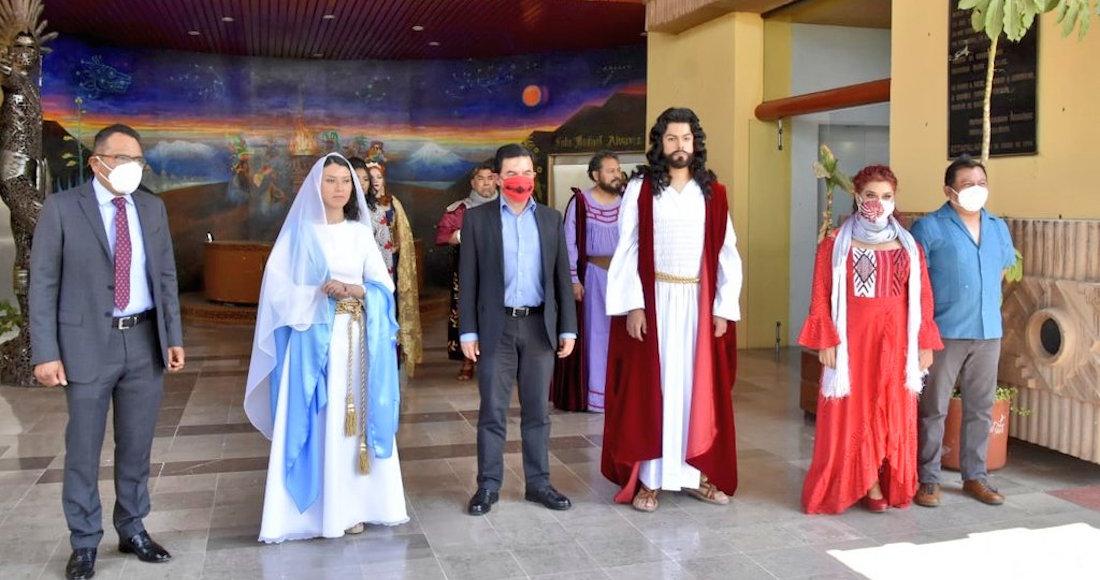 iztapalapa - Brandon soñó con ser el Cristo en Iztapalapa desde los 12 años; por COVID lo hará a la distancia