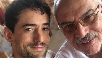 Luis Gerardo Méndez y su padre