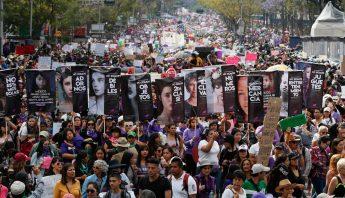 Marcha del Dia Internacional de la Mujer en la CdMx