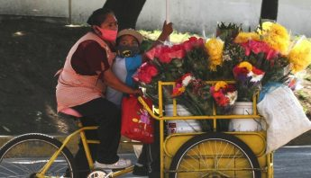 mujer-vendedora-flores-niño-bicicleta-triciclo