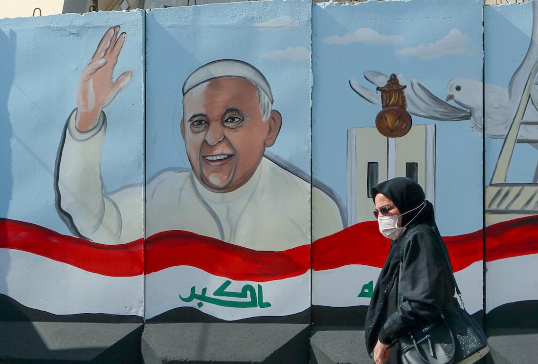 Foto preparativos para la visita del papa francisco a irak