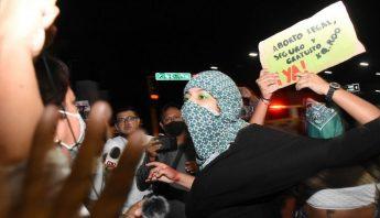 Protesta de mujeres para despenalizar el aborto en Quintana Roo