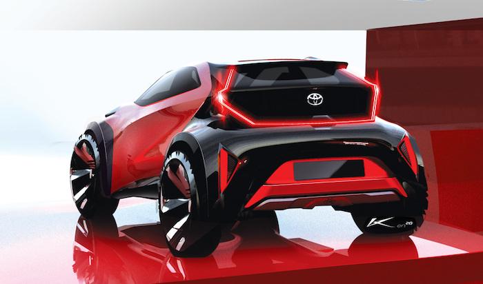 Parte trasera del nuevo Toyota Aygo X Prologue.