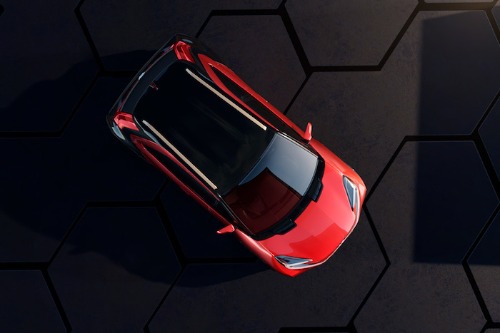 Vista aérea del Toyota Aygo X Prologue.