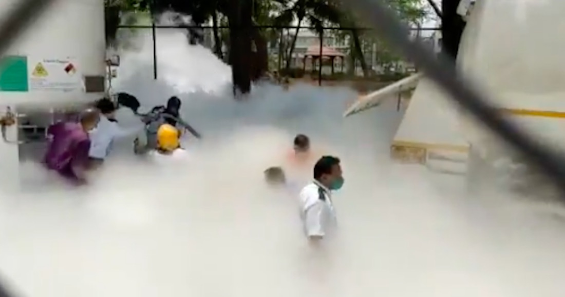 accidente oxigeno india - Los enfermos mueren en casa, no hay camas, falla el oxígeno: India enfrenta el peor escenario COVID