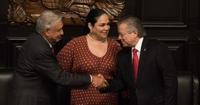 El Presidente Andrés Manuel López Obrador y el Ministro Arturo Zaldívar.