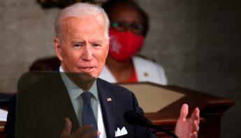 Joe Biden ante el Congreso de EU