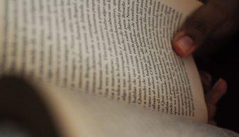 La pagina de un libro