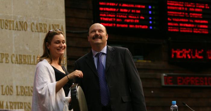 María Eugenia Campos y César Duarte.