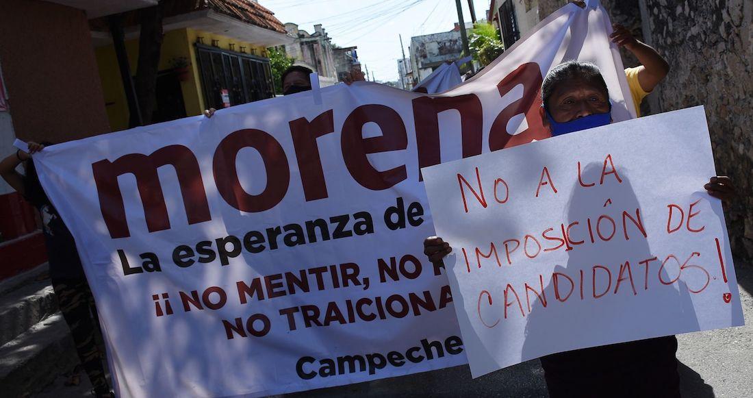 Foto morena protestas