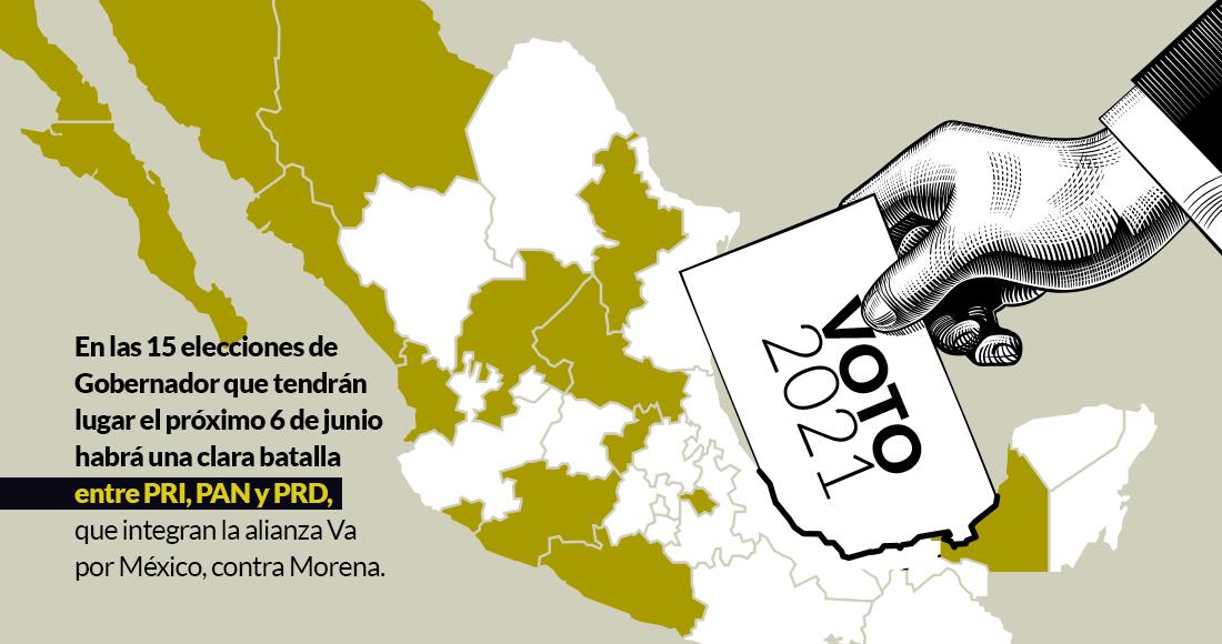 Elecciones2021 | Es el todo por el todo. Morena vs. Va por México. Así van  en 15 estados y Diputados | SinEmbargo MX