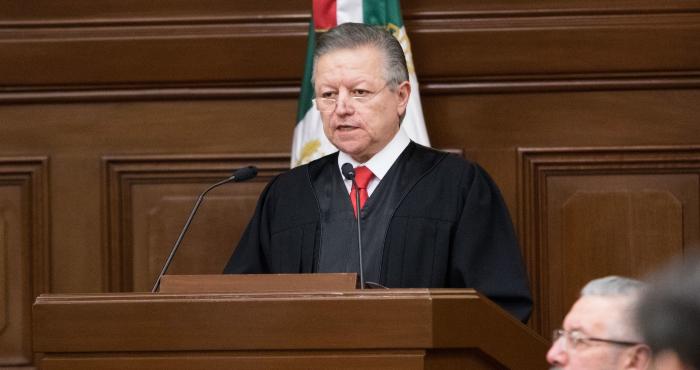 Artro Zaldívar, presidente de la SCJN.