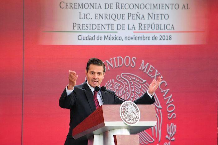 Enrique Peña Nieto, expresidente de México, en un evento de noviembre de 2018.