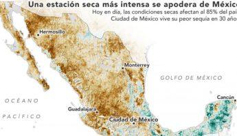 Mapa de la sequia en Mexico