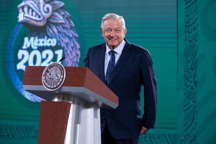 El Presidente Andrés Manuel López Obrador, quien encabezó su conferencia matutina en Palacio Nacional.