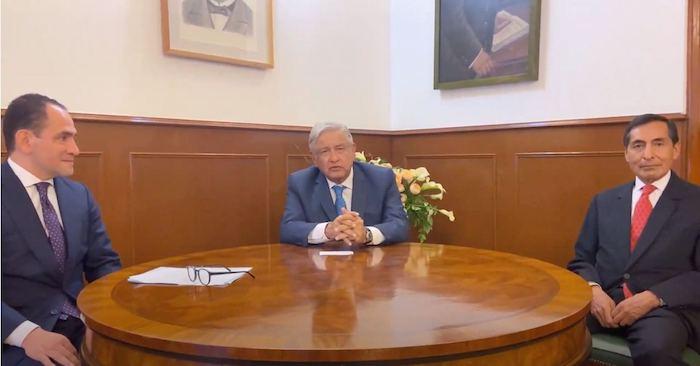 El Presidente, Arturo Herrera y Rogelio Ramírez.