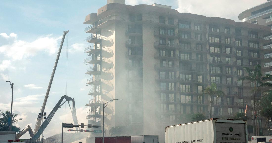derrumbe miami efe - Rescatistas de México e Israel ayudan en colapso de edificio en Miami