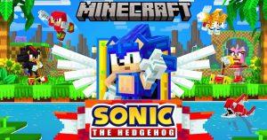 sonic minecraft 300x158 - Sonic, el emblemático erizo azul de Sega, cumple 30 años