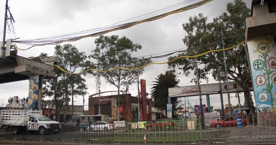 zona del colapso de la l12 - CdMx habilita ruta emergente de Metrobús de Tláhuac a Coyuya