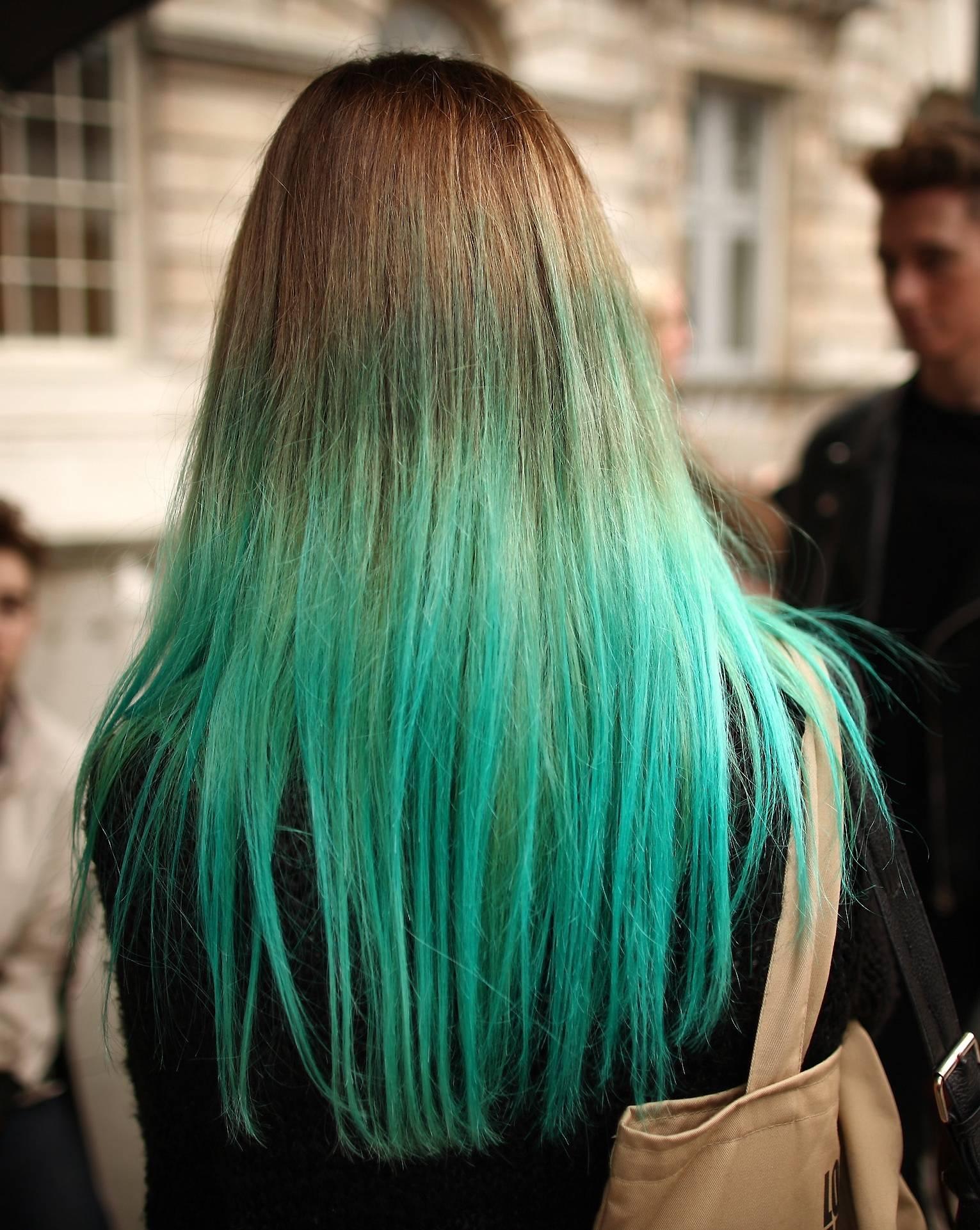tip dye hair sinem