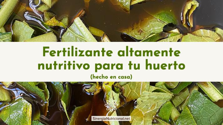 Fertilizante altamente nutritivo para tu huerto (hecho en casa)