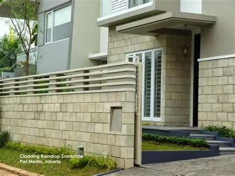 menilik rumah minimalis variasi batu alam desain rumah