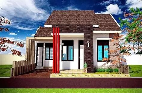 gambar rumah minimalis tampak depan batu alam