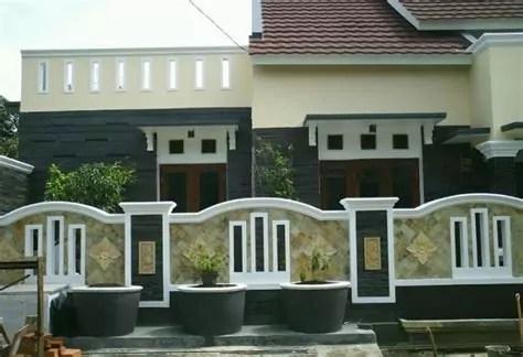 rumah minimalis batu alam tampak depan karya minimalis