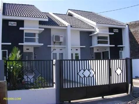 unik desain pagar rumah minimalis batu alam terbaru