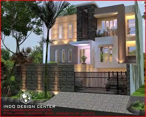 desain rumah pakai batu alam