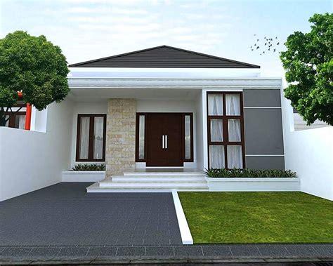 model rumah minimalis sederhana model teras batu