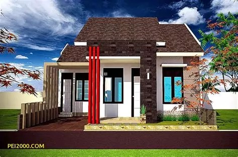 gambar rumah minimalis variasi batu alam terindah denah