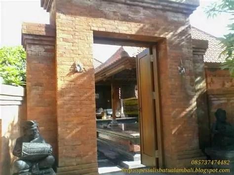 gambar gerbang antik bata ekspose spesialis batu alam bali