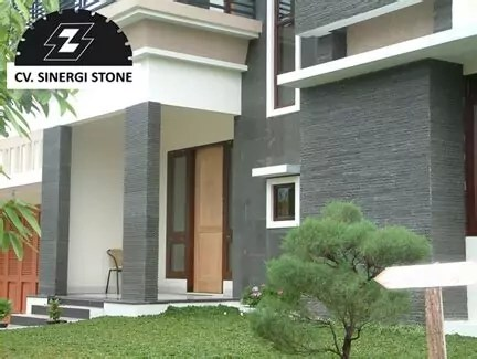 model tiang teras batu alam susun sirih top rated design