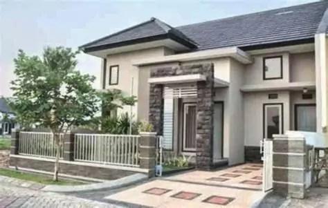 rumah minimalis cat batu alam inspiratif cat