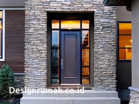 rumah minimalis pakai batu alam