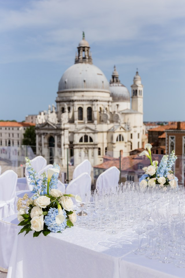 View of a terrace in Venice