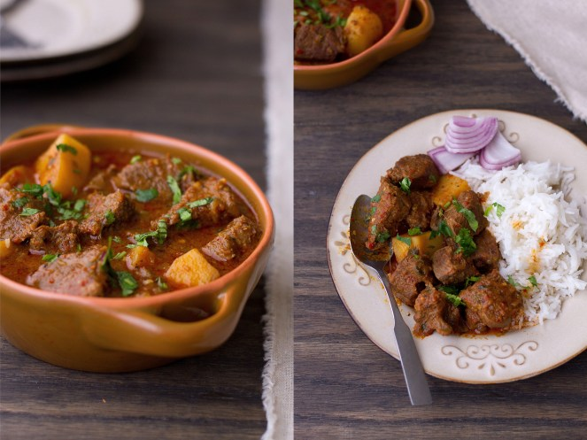 Sinfully Spicy : Aloo Gosht - Mutton With Potatoes